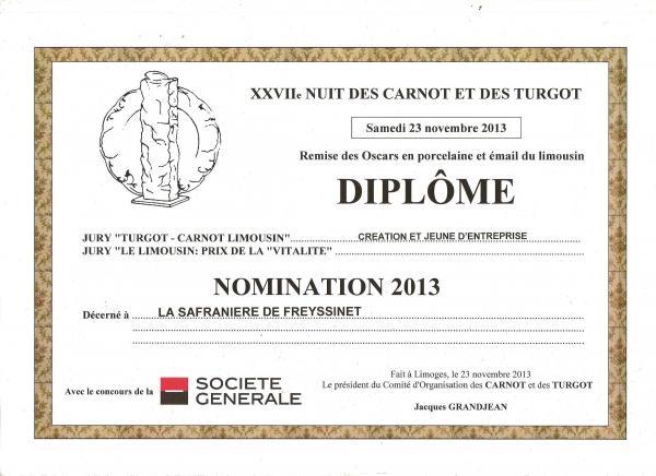 prix des carnot turgot 2013